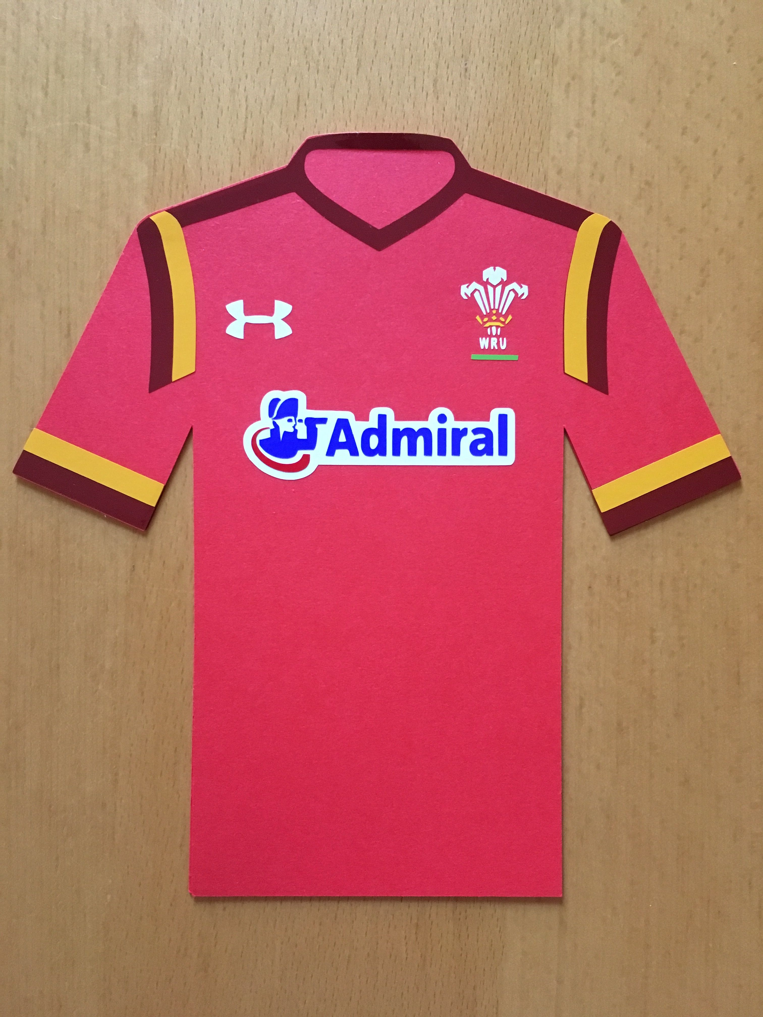 A Wales Rugby Shirt Birthday Card Card Stock And Vinyl Cut Using A