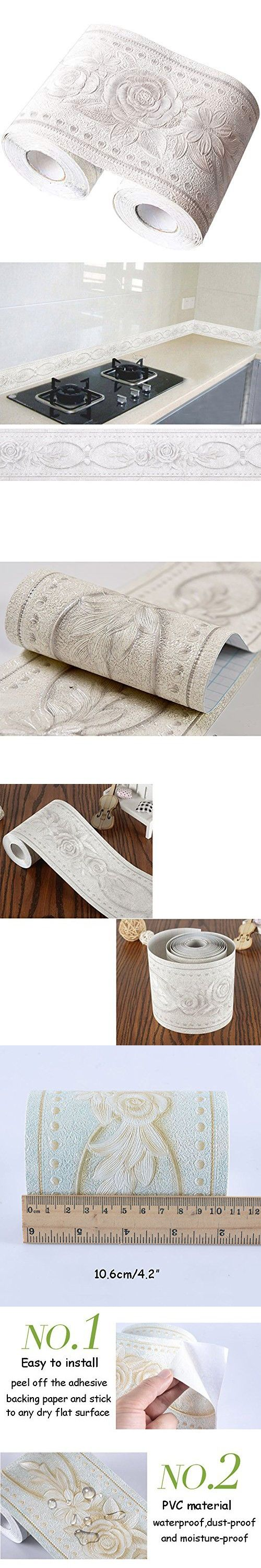 "Creation Core 4.2x196.8"" Waterproof Wallpaper Border 3D"