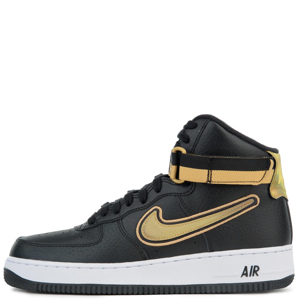Nike Air Force 1 High '07 Lv8 Sport Blackmetallic Gold white