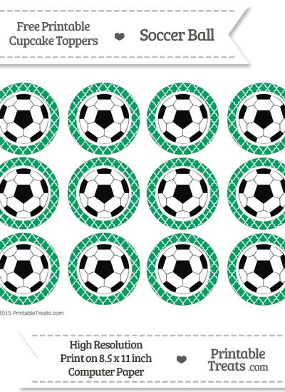 Free Shamrock Green Moroccan Tile Soccer Ball Cupcake Toppers Cupcake Toppers Printable Free Birthday Stuff Cupcake Toppers