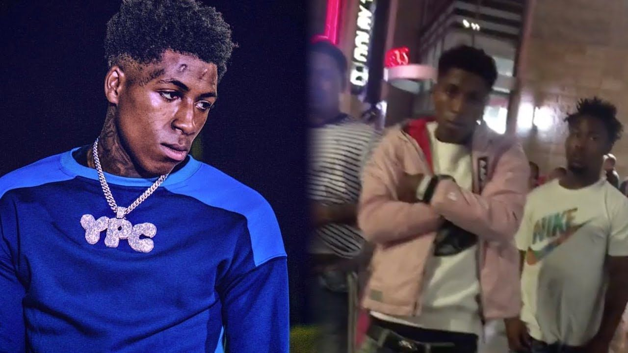 NBA YoungBoy Runs Up On Goons In Hollywood LA YouTube