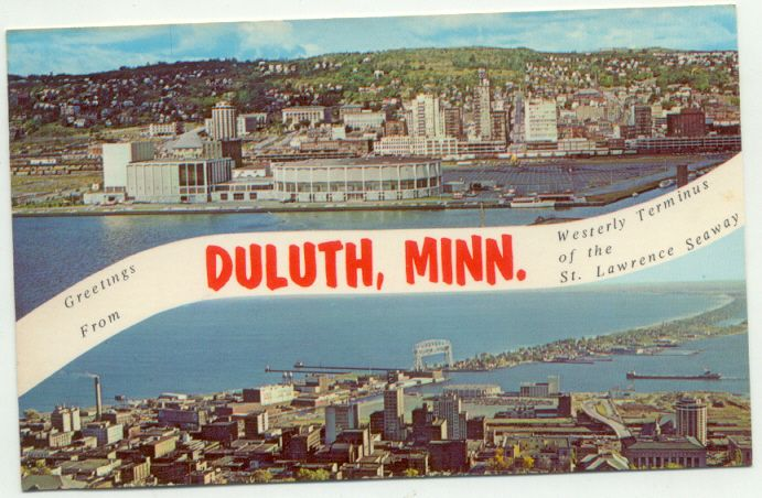 Greetings From Duluth Minnesota Vintage Postcard Duluth