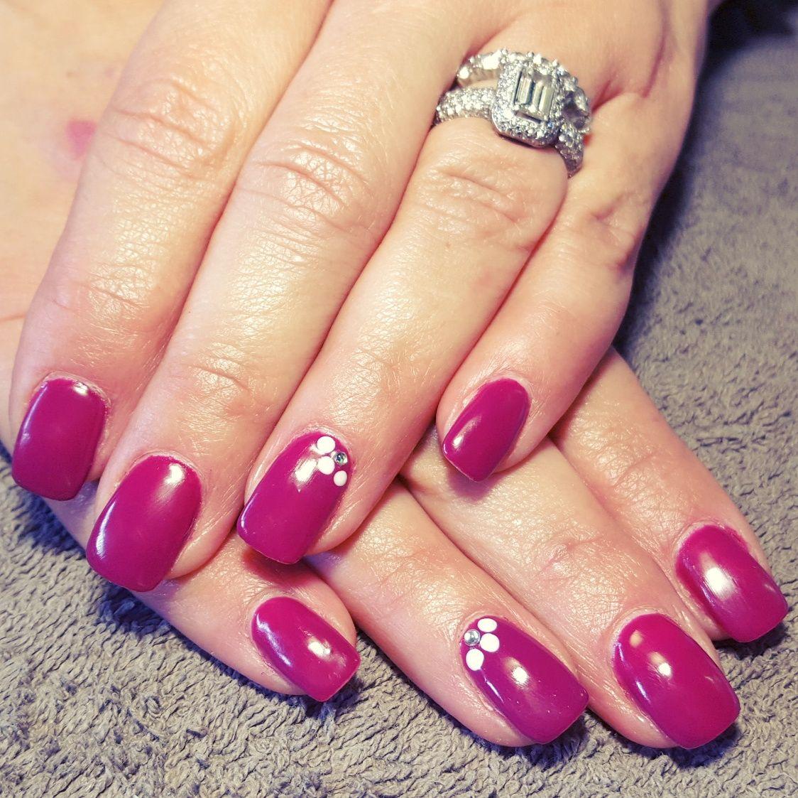 nails, accent nail, gelish, shellac, gellac, nail art, maroon, pink ...