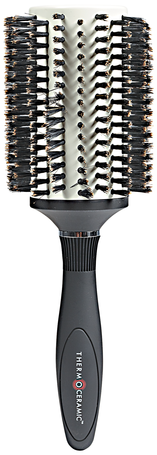 A Denman Thermo Ceramic Bristle Round Brush Is Perfect For Smoothing Straightening And Adding Conditi Acrylic Nail Kit Natural Bristle Brush Denman Hair Brush