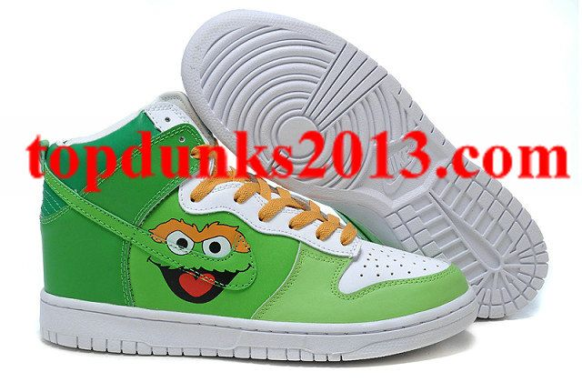 Buy Oscar the Grouch Nike Dunk High Top Men