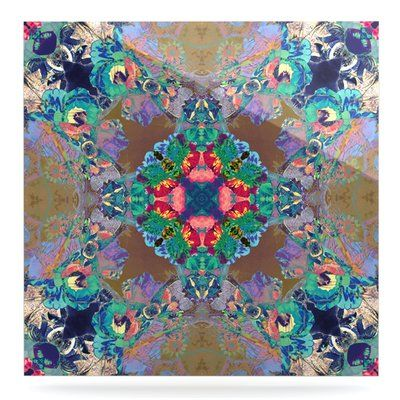 "East Urban Home Kaleidoscope 'Flowery' Graphic Art Print on Metal Size: 10"" H x 10"" W x 1"" D"