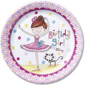 Rachel Ellen Ballerina Paper Plates ideal for a ballerina party, girls birthday party or ballet party. #ballerina