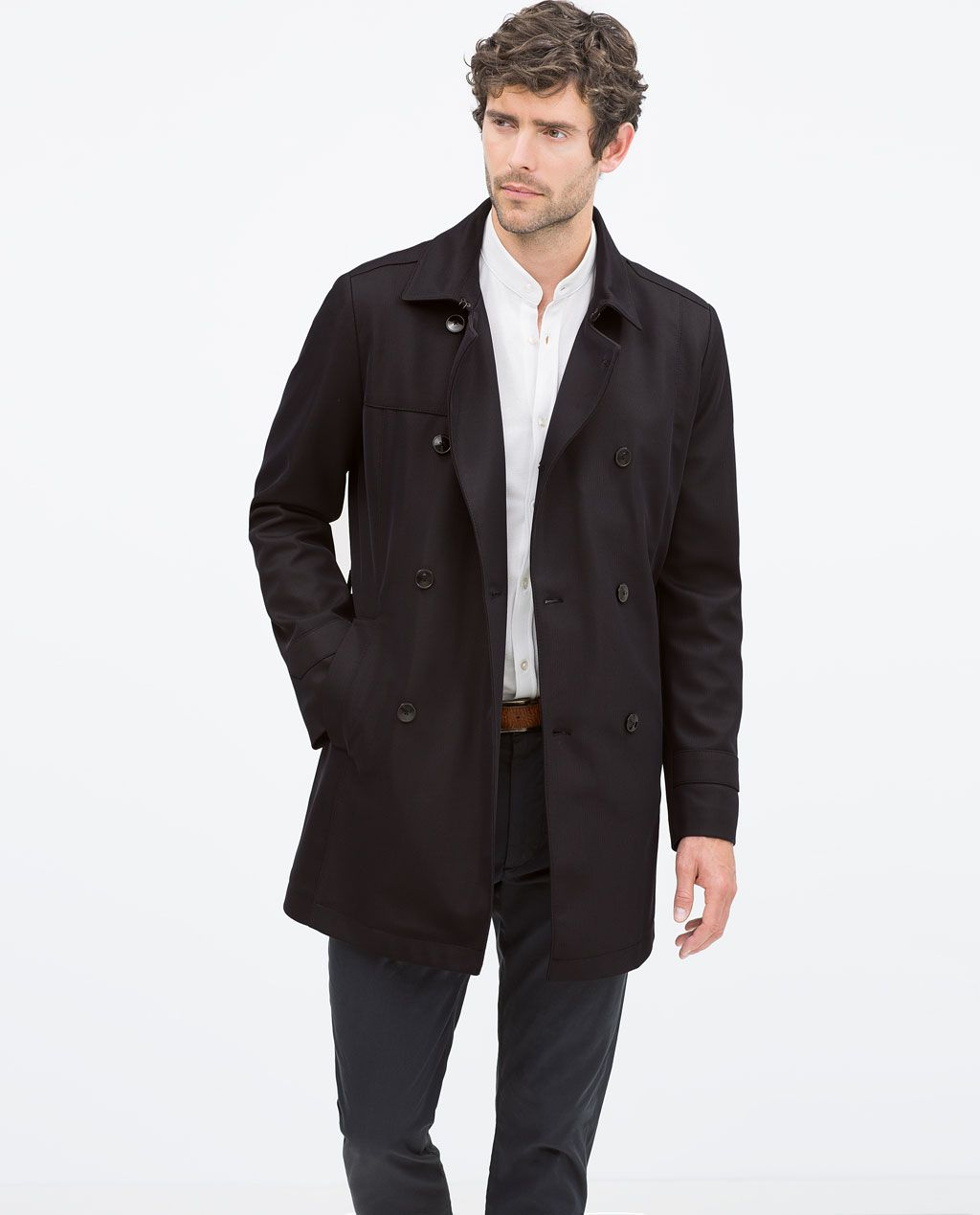 9ce607dd456 ZARA - SALE - DOUBLE-BREASTED TRENCH COAT