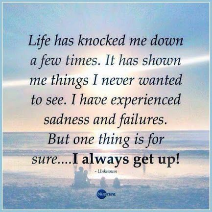 When Life Knocks You Down, You can Choose to Get Back Up