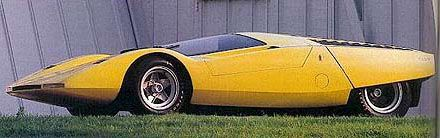is Pininfarina built concept car on the chassis of a Ferrari 512 Can Am racer with a mid-mounted 4.9 litre V12