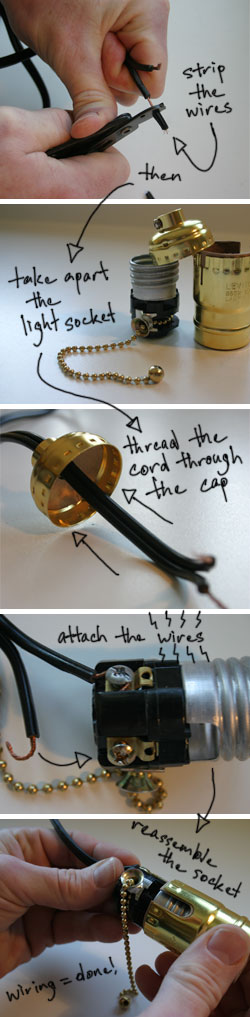 How To Rewire A Lamp Makely