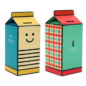 Image of Tirelire en carton DIY