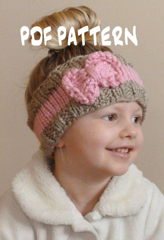 KNITTING PATTERN The Bo Peep Headband, Toddler Knit Ear Warmer ...