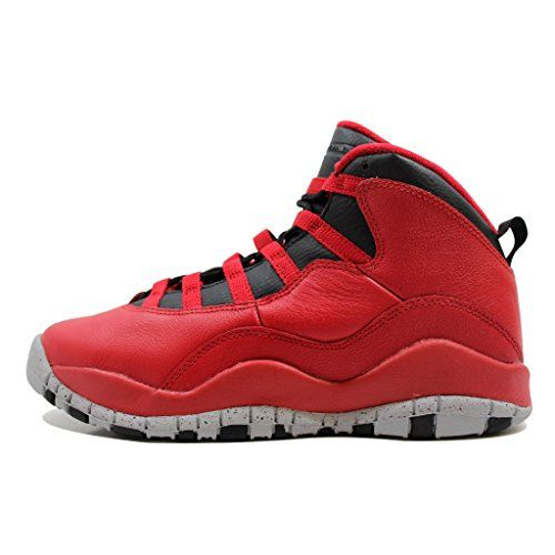 68bd5d0cc286b2 ... Red Mens Shoes  Nike Boys Air Jordan 10 Retro 30th BG Bulls over  Broadway Gym RedBlackWolf Grey Leather Size ...