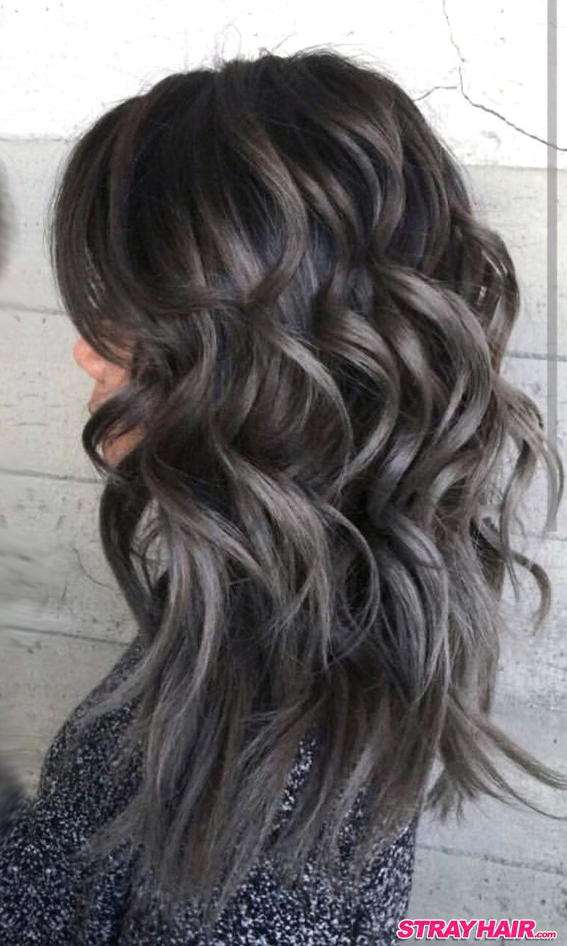 Thick Waves Of Gunmetal Gray Hair Color Hair Colors And Styles