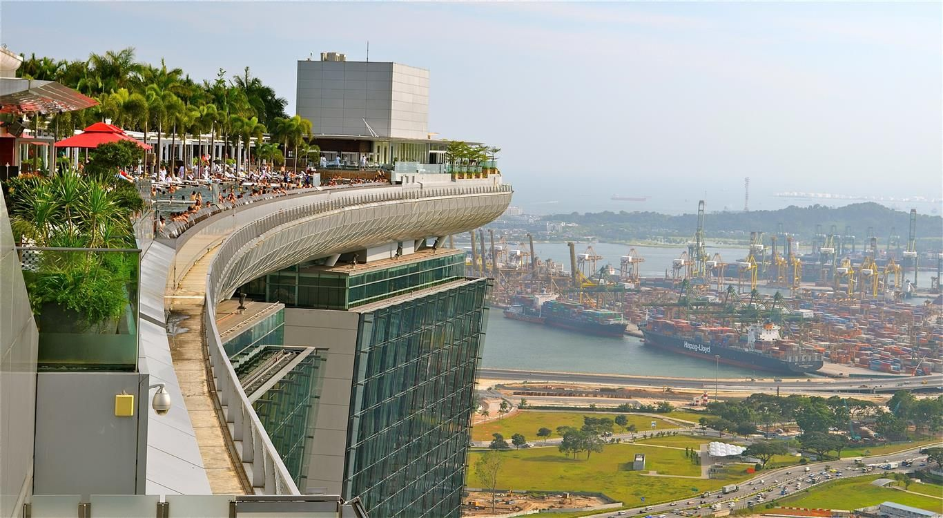Rooftop Swimming Pool At The Marina Bay Sands Hotel In Singapore See More At Http