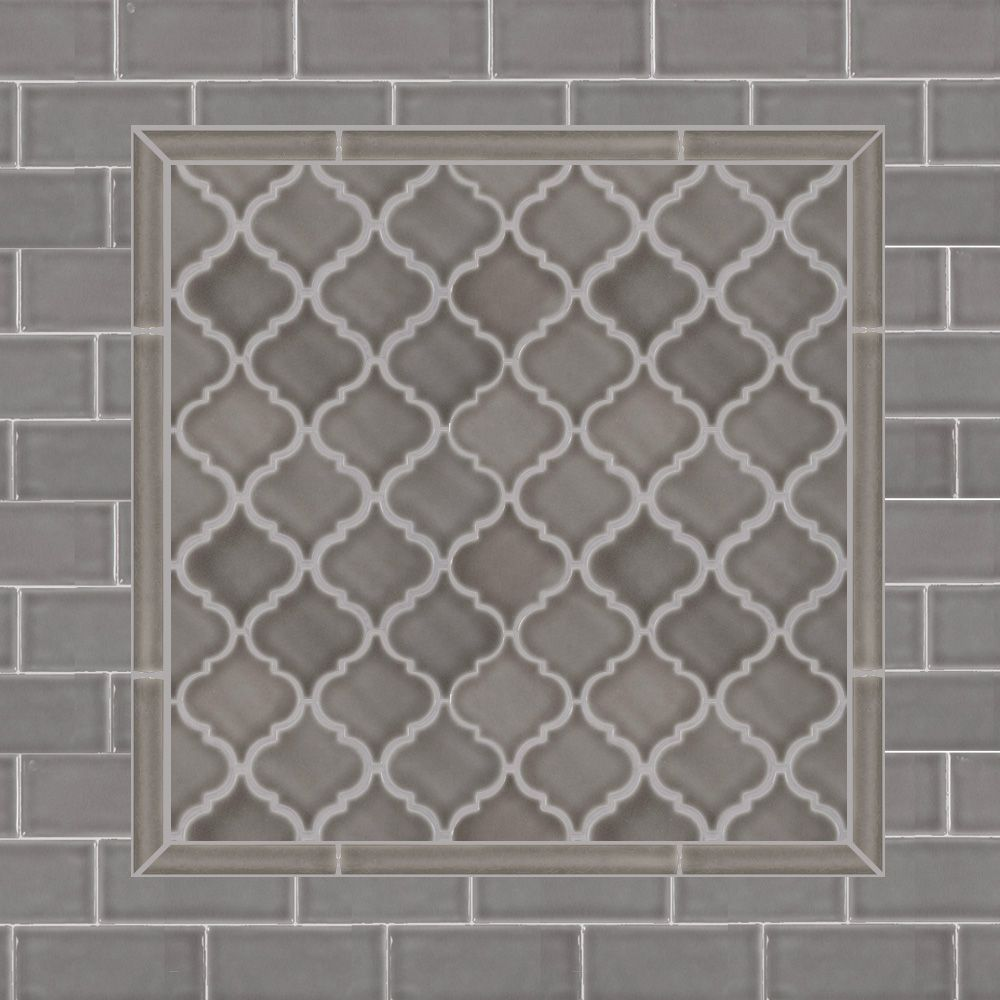 Dove Gray Home Depot Arabesque And Subwaytile For Kitchen Backsplash Mosaic Wall Tiles Gray Tile Backsplash Arabesque Tile