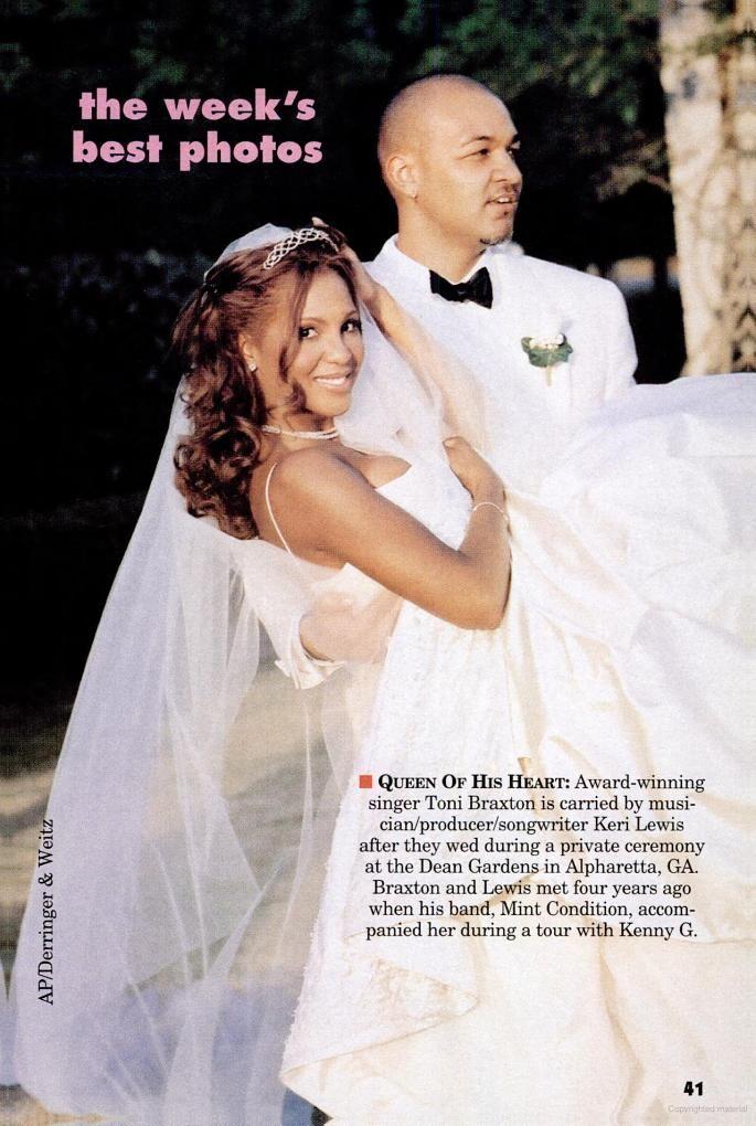 Toni Braxton Wedding.Toni Braxton And Keri Lewis Mint Condition At Their 2001