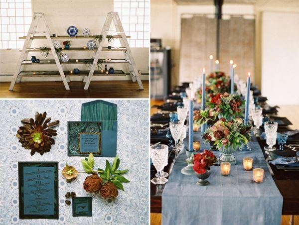 La Tavola Fine Linen Rental Tuscany Wedgwood Runner and Napkins - halloween decoration rentals