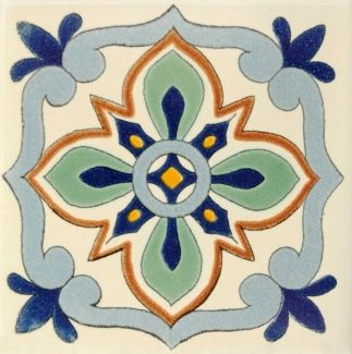 Bella 2 Terra Nova Hacienda Ceramic Tile Azulejos Pintados Mosaicos Pintura Decorativa En Madera