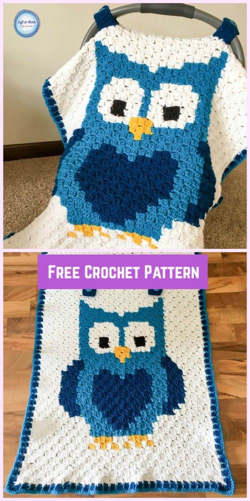 C2C Crochet Owl Car Seat Canopy Free Pattern with Video Tutorial ...