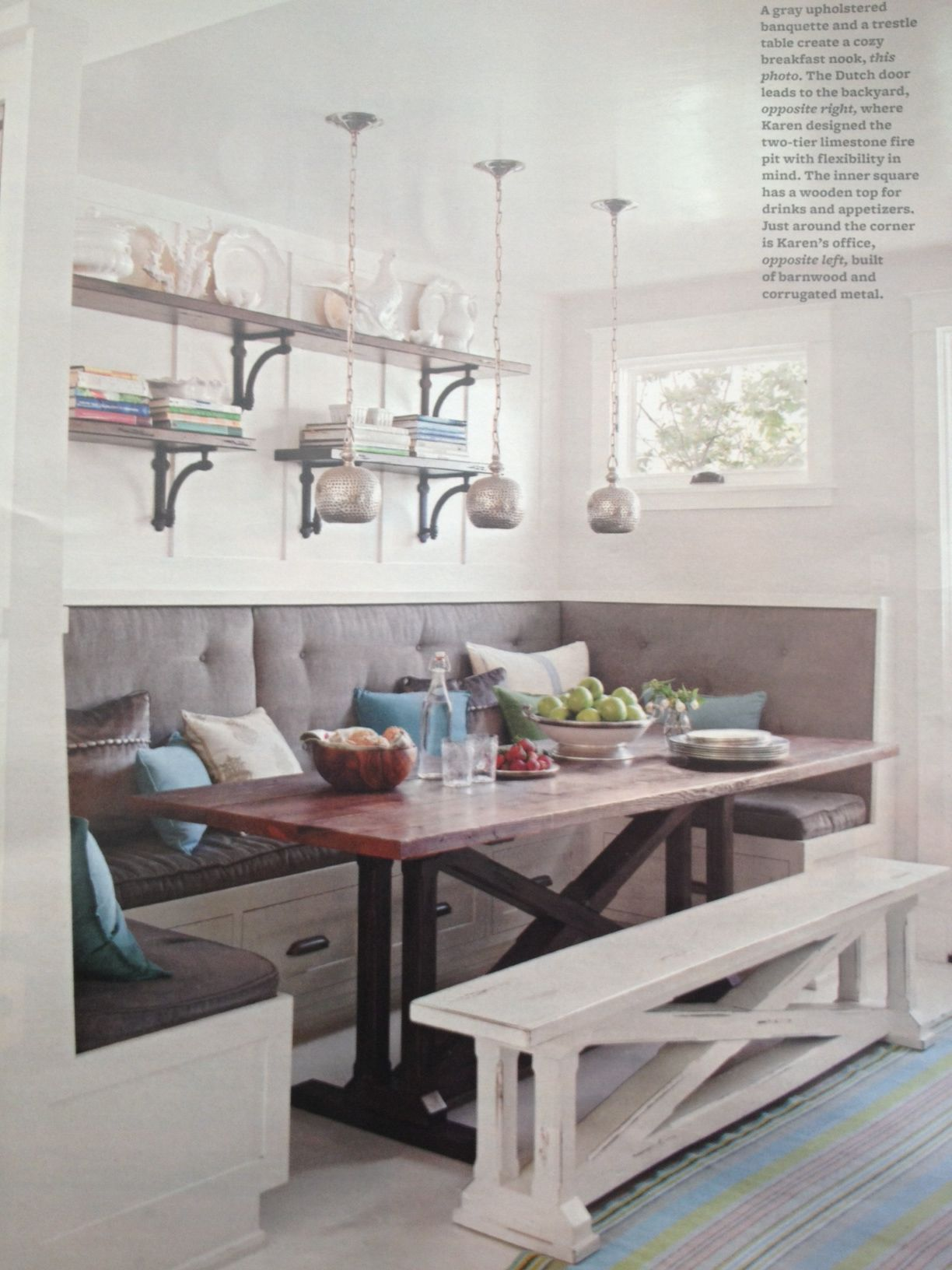 love this with book shelves above n t for lights