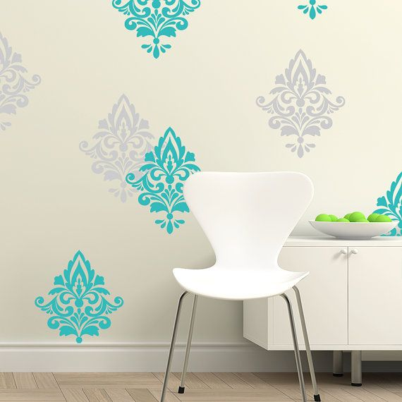 Marvelous Damask Pattern Vinyl Wall Decal, Home Decoration, Wall Pattern Set Of 12 Damask  Decals