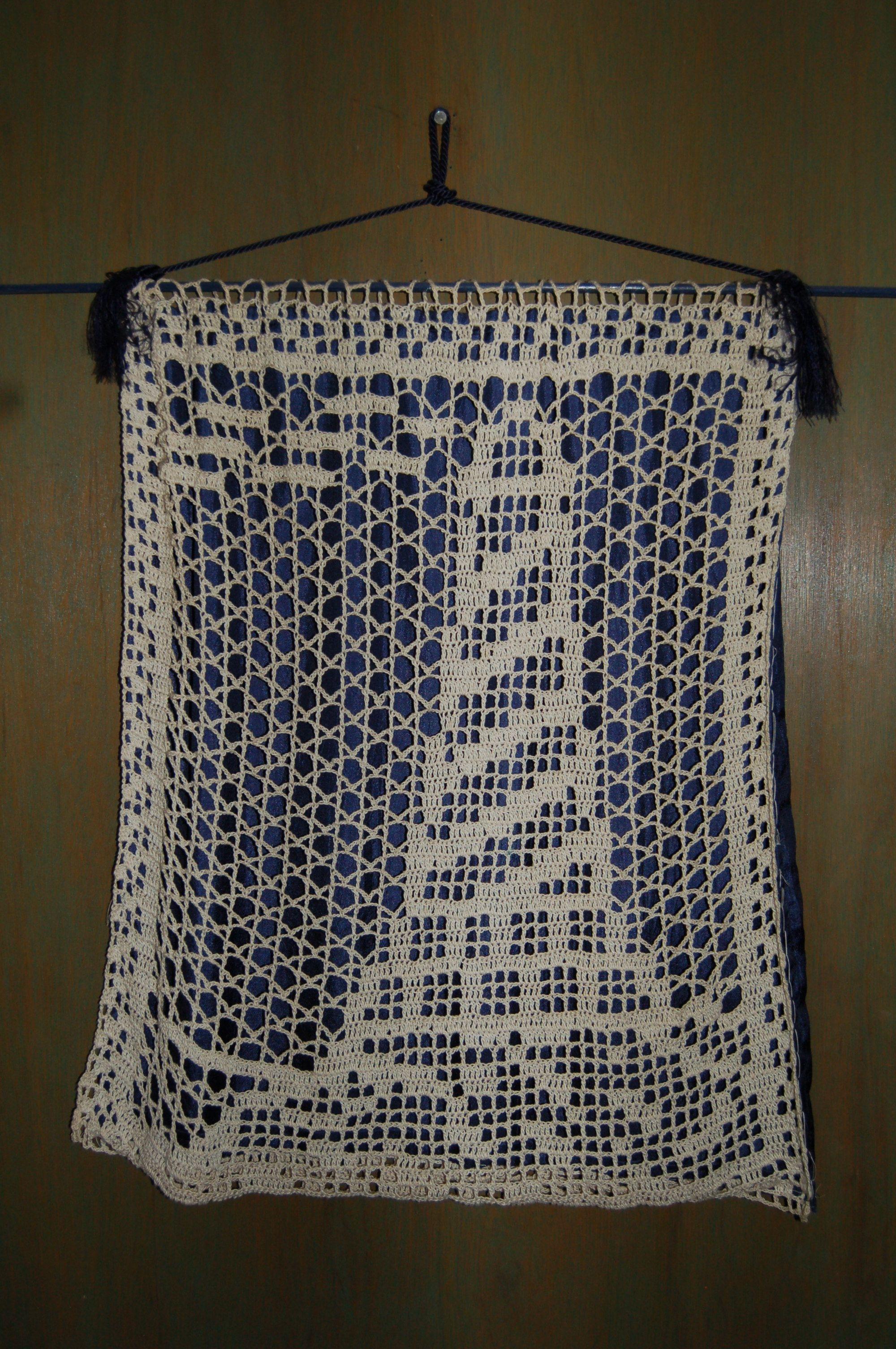 Filet Crochet Curtain Diagram