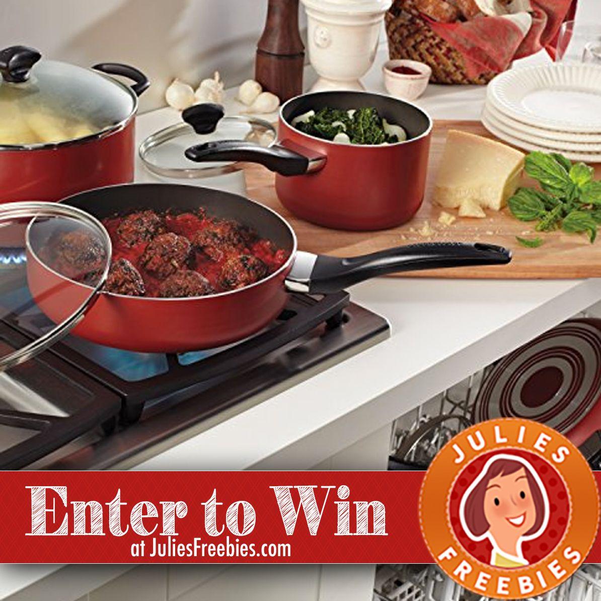 Win A 15 Piece Farberware Cookware Set Julie S Freebies Kitchen Cookware Sets Kitchen Cookware Nonstick Cookware