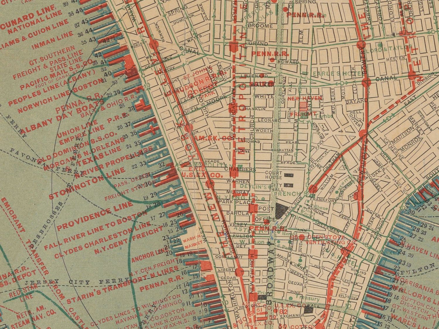Fascinating Old Maps Of Both Real And Ridiculous NYC Transit - Nyc map lower manhattan