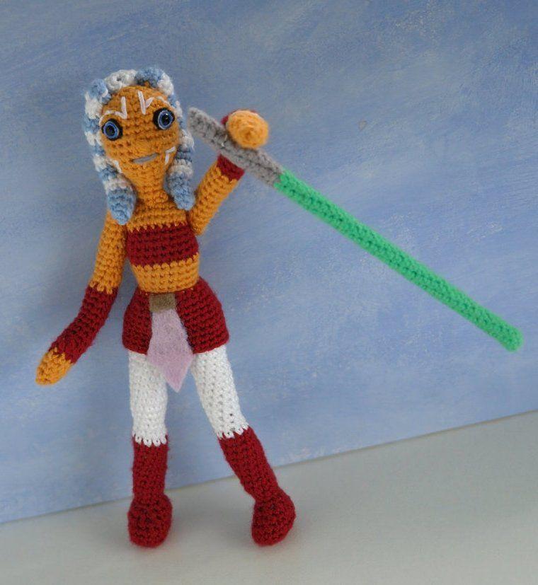 Star Wars crochet pattern: amigurumi doll Ahsoka Tano by ...