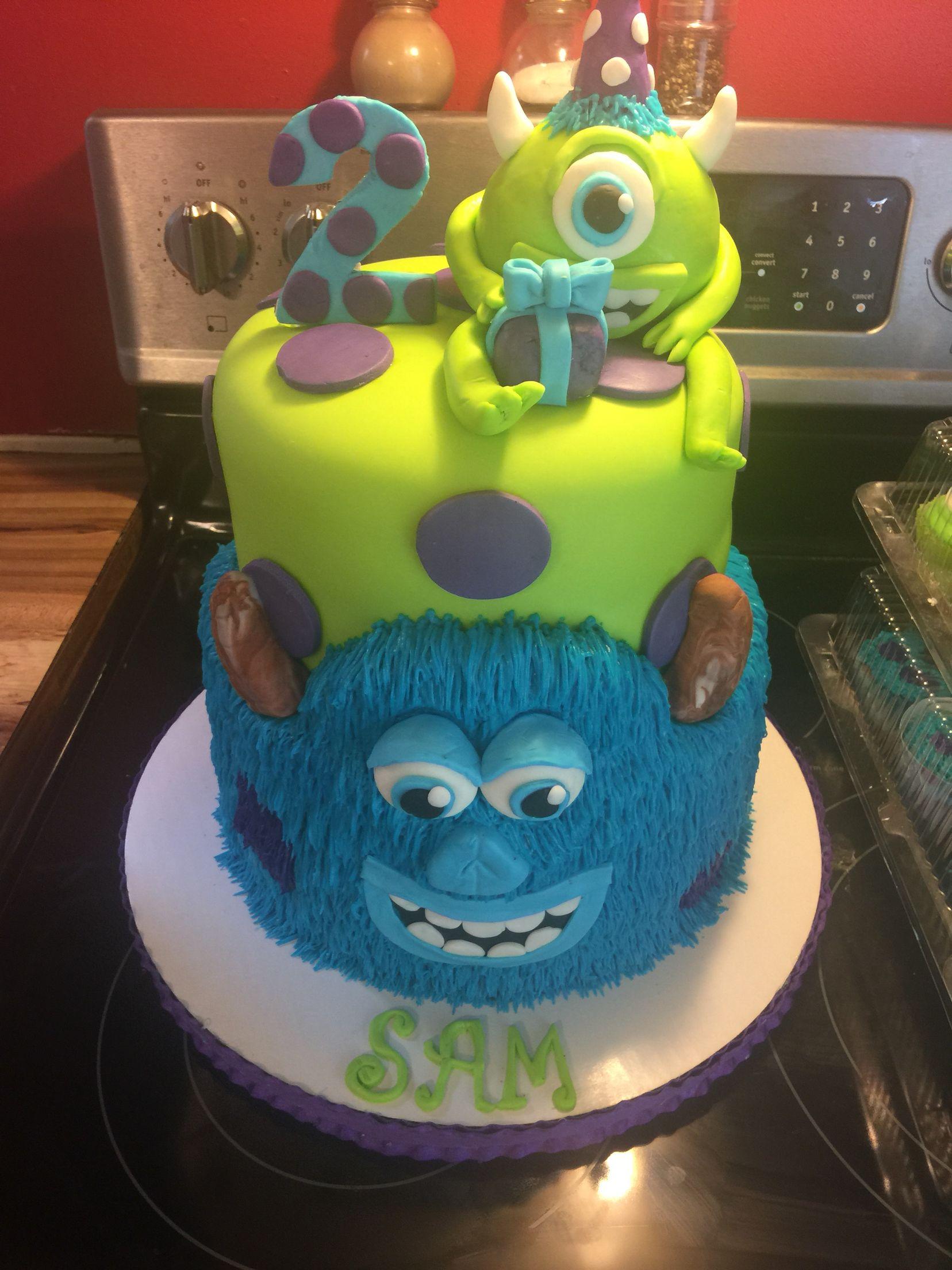 Outstanding Monsters Inc Cake Monster Inc Cakes Monster 1St Birthdays Funny Birthday Cards Online Hendilapandamsfinfo