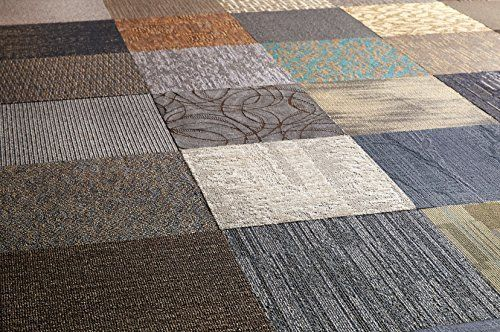 Peel And Stick Assorted Commercial Carpet Tile 2 Ft X 2 Ft 10 Tiles Case Commercial Carpet Tiles Carpet Tiles Commercial Carpet