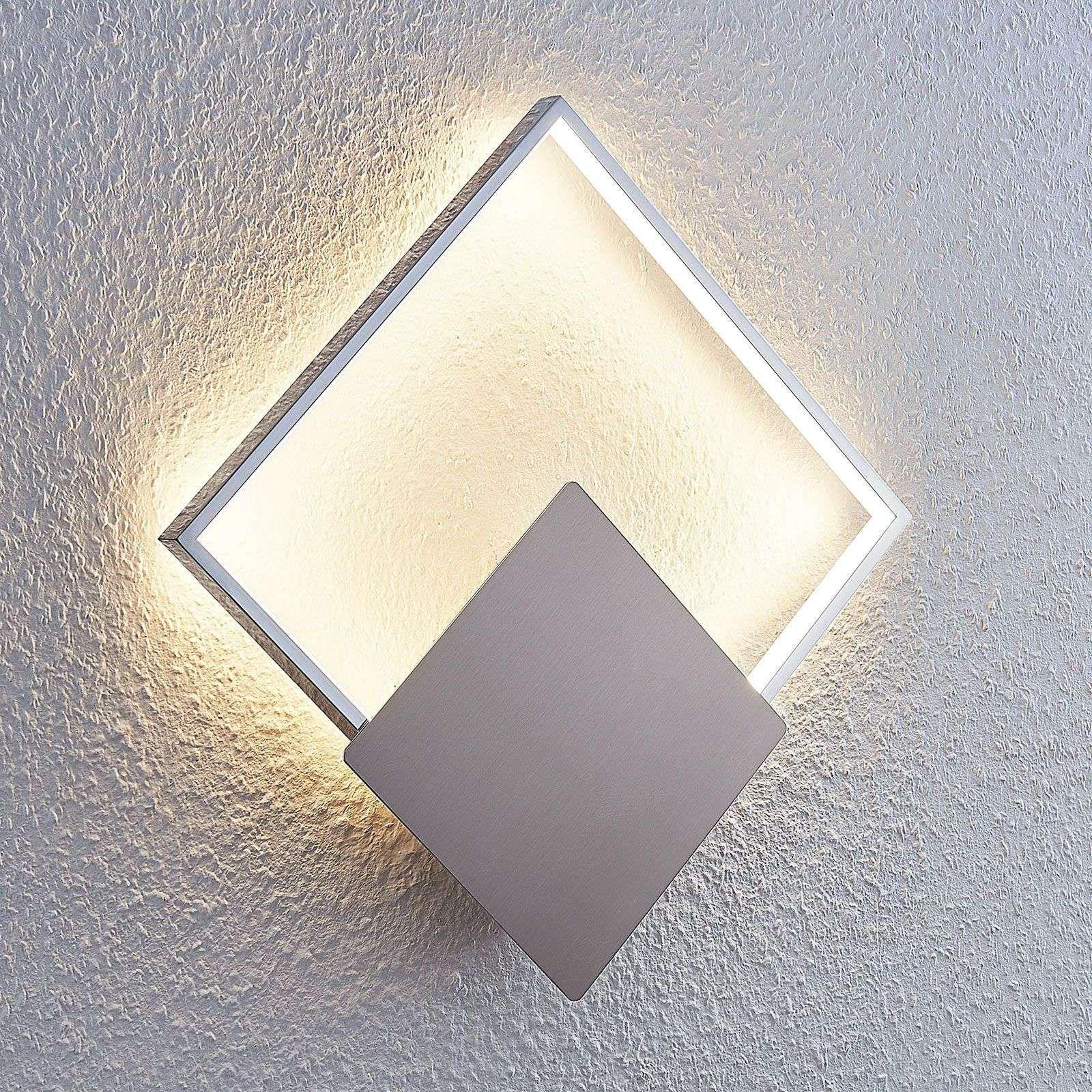 Deckenleuchte Deckenlampe Flurlampe Eckig Flach Glas Chrom Metall Modern