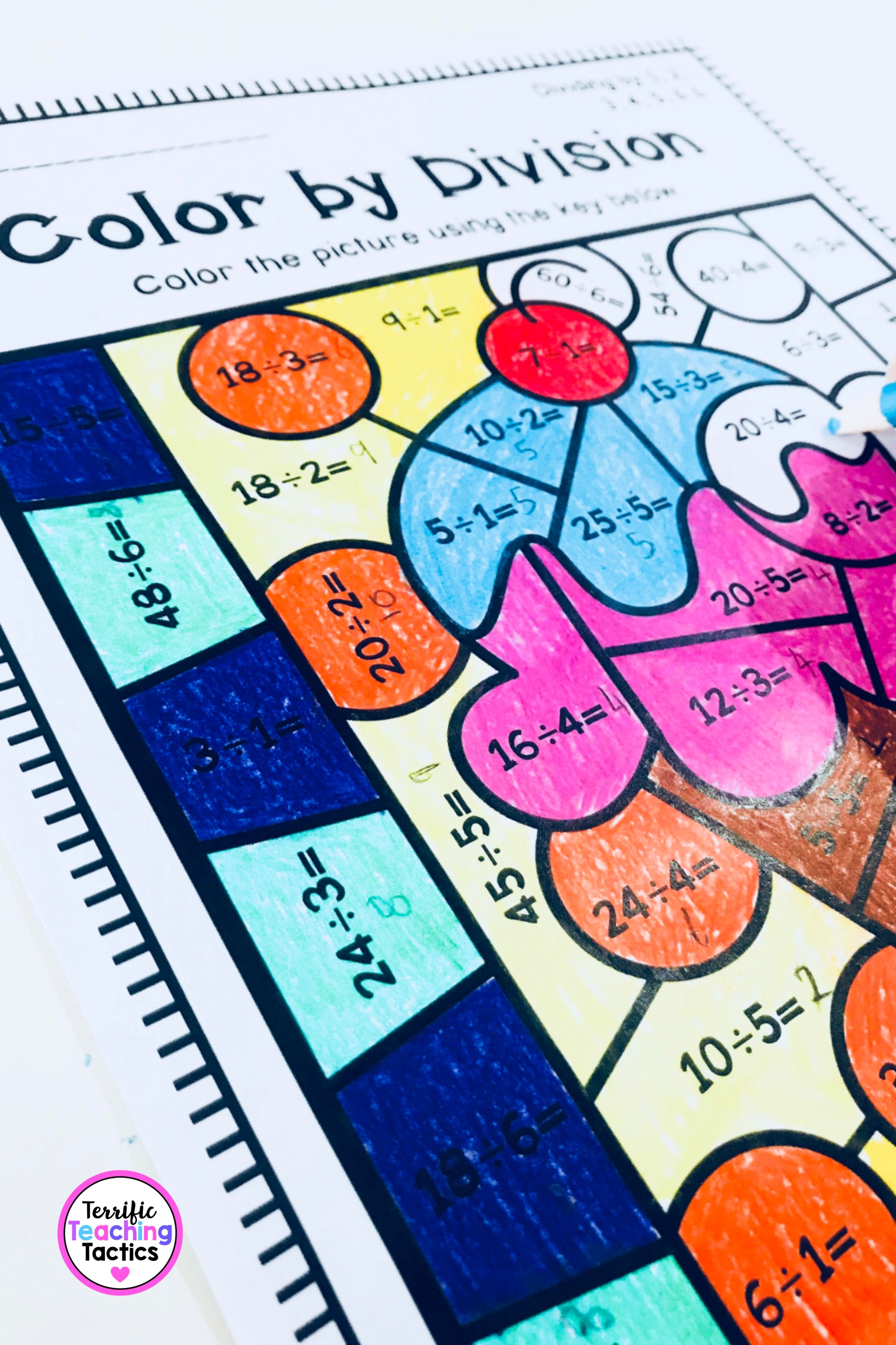 Color By Division Worksheets In