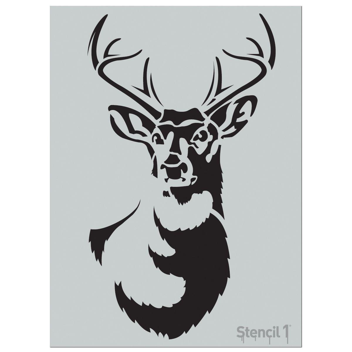 Stencil1 24inx24in Stencil Antler Deer