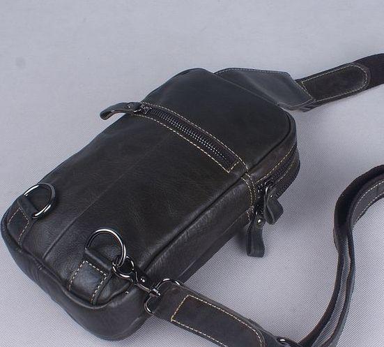 Nuovo arrivo uomo in vero cuoio borse a tracolla corpo croce, moda pelle bovina vintage petto borse borse a
