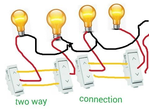 Two Way Switch Connection For Many More Lights In Hindi Hindi Urdu Youtube Seo Electro Technic Y Electrical Wiring Colours Electrical Switches Electricity