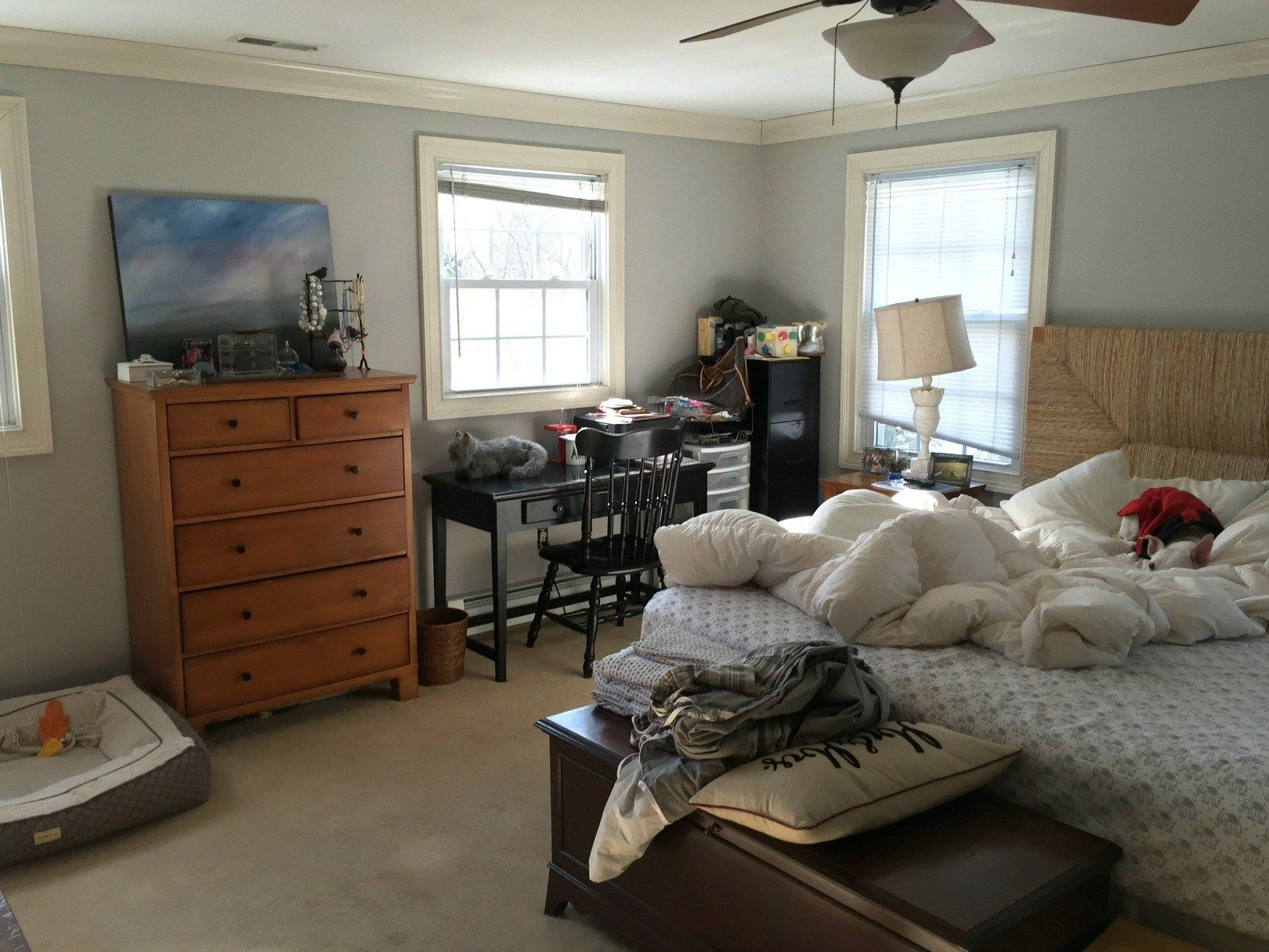 Master Bedroom Makeover with Home Office Luxury bedroom