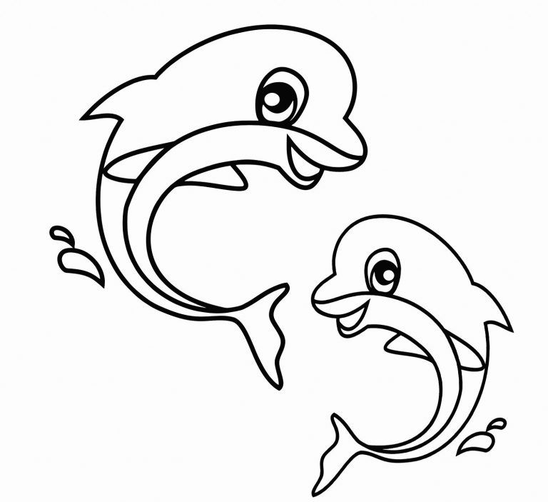 Cute Animal Coloring Pages Dolphin Coloring Pages Animal Coloring Books Easy Coloring Pages