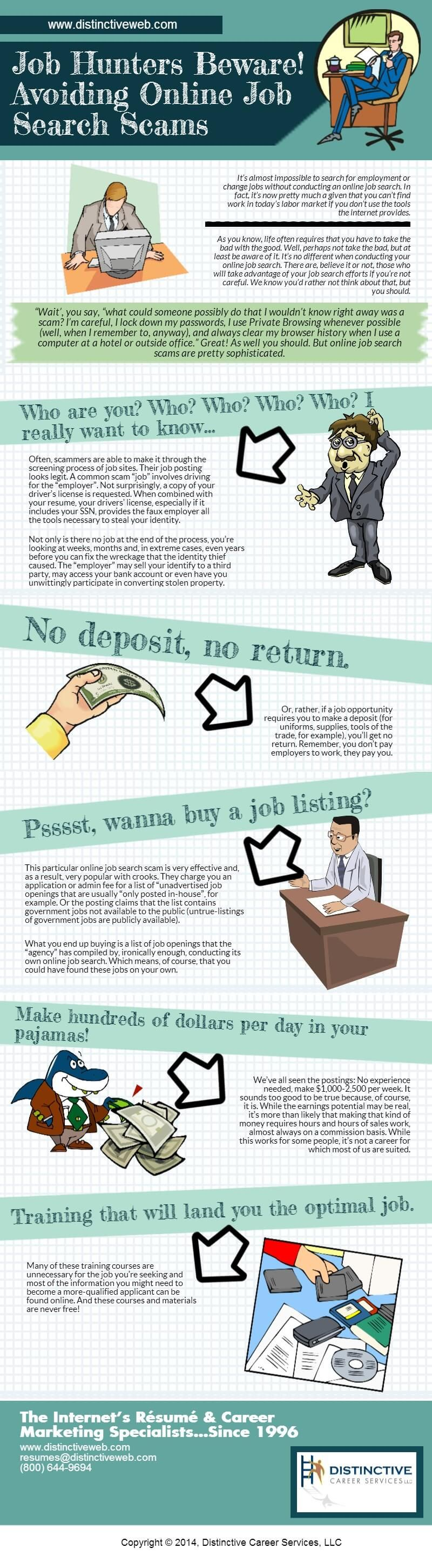 Avoid Online Job Search Scams Infographic Online job