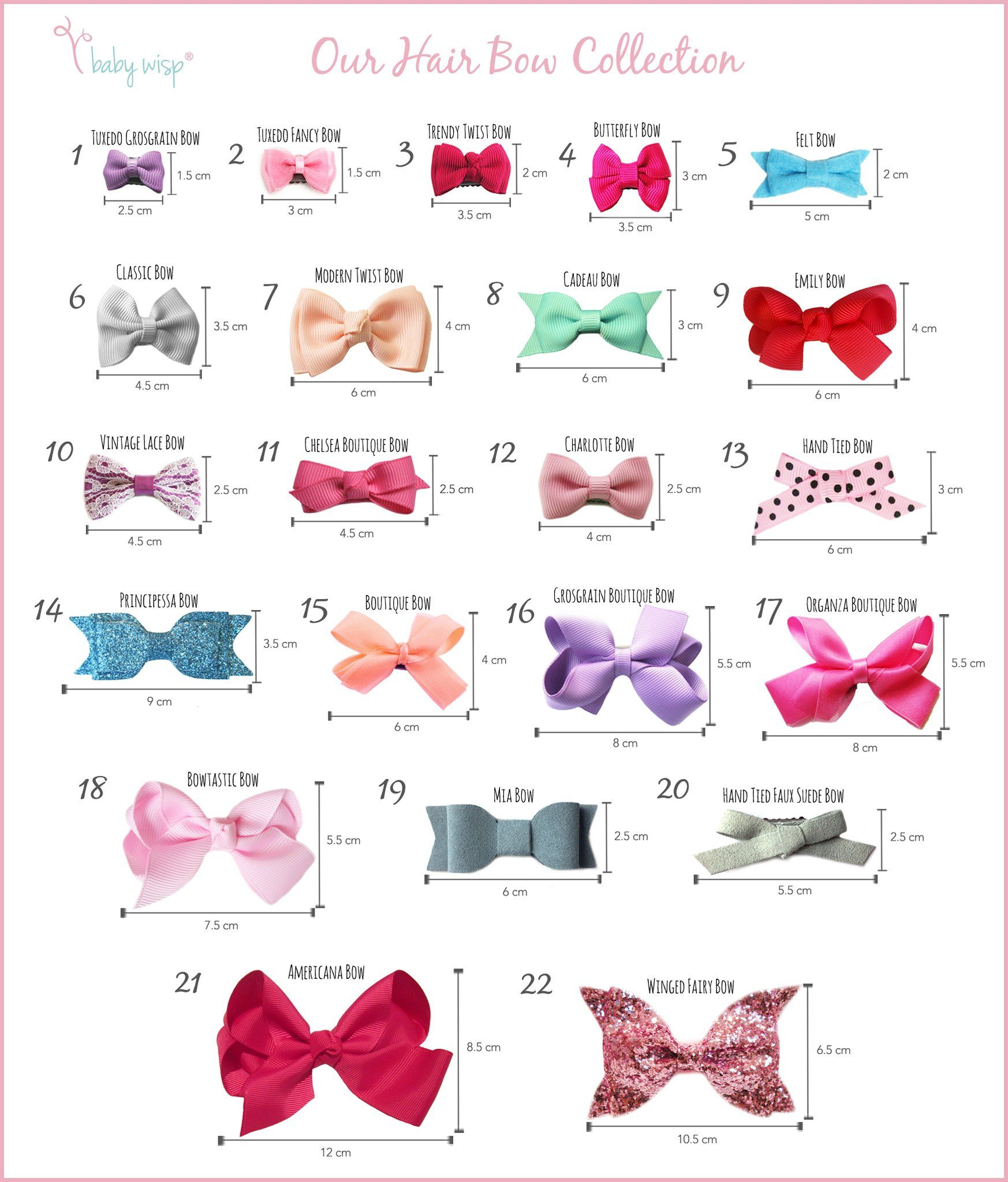 Having Trouble Deciding Which Bow To Get This Guide We Put Together Shows All Our Latest Hair Bow Styles To Baby Hair Bows Toddler Hair Accessories Hair Bows