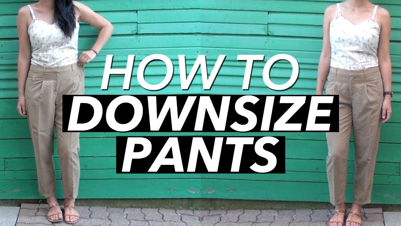 This is how I downsize pants, looks professional and hard to tell they were tailored! Works for shorts and/or pants to make the waistband fit better. CLICK S...