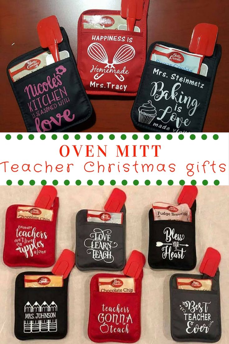 Teacher saying oven mitt, teacher gifts, teacher Christmas gifts ...