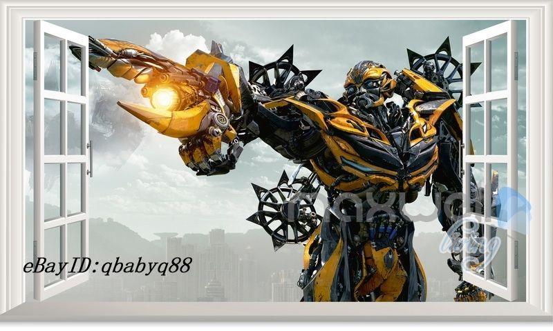 Nursery Décor Large Transformer Optimus Prime 3d Window Wall Decals Removable Sticker Kids Art Baby