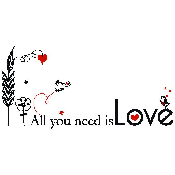 Vinilos adhesivos frases all you need is love vinilo Vinilos de amor