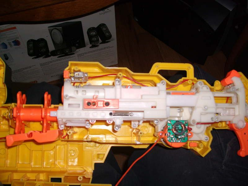 Inside a nerf Vulcan.. Man I can't wait to get my hands