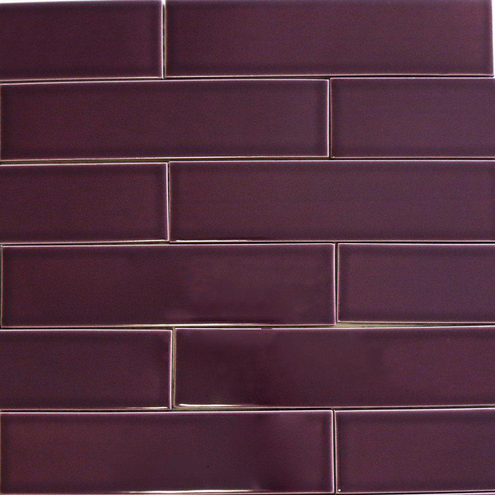 Ceramic Subway Tile Plum Purple Purple Kitchen Tile Bathroom Subway Tile