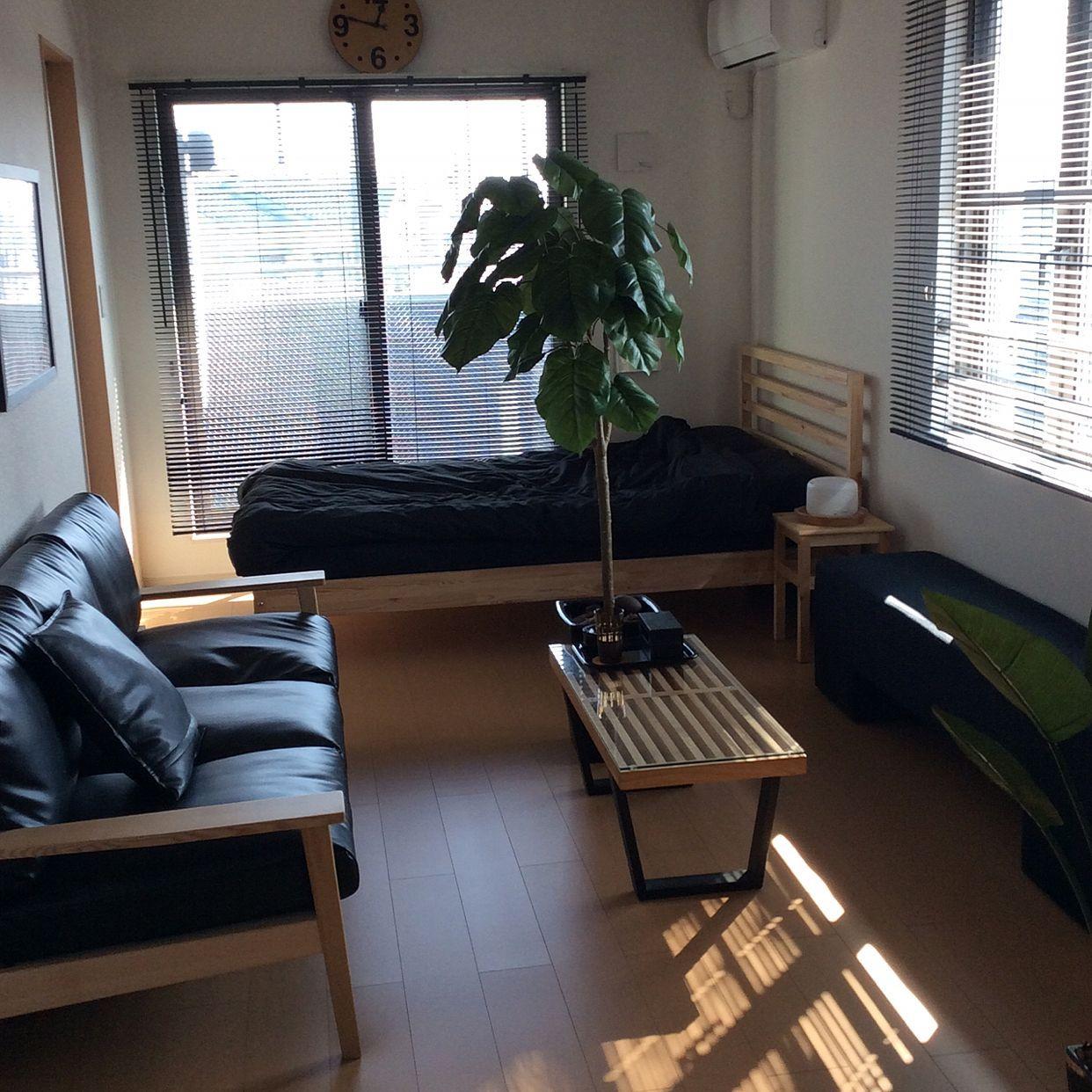 部屋全体 Ikea 一人暮らし 観葉植物 男前 などのインテリア実例 2014 11 13 14 31 50 Roomclip ルームクリップ 部屋 シンプル インテリア 家具 部屋 レイアウト
