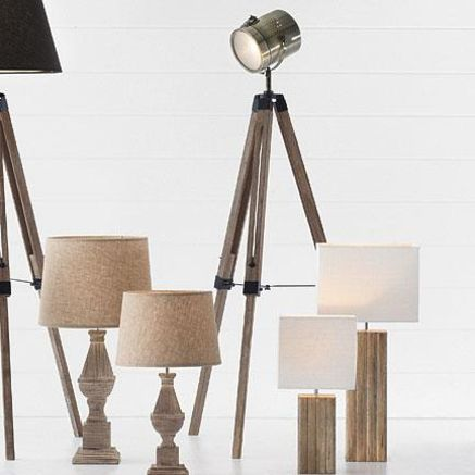 $229 Reclaimed Wood Marine Searchlight Floor Lamp | ChairsWithFlair ...